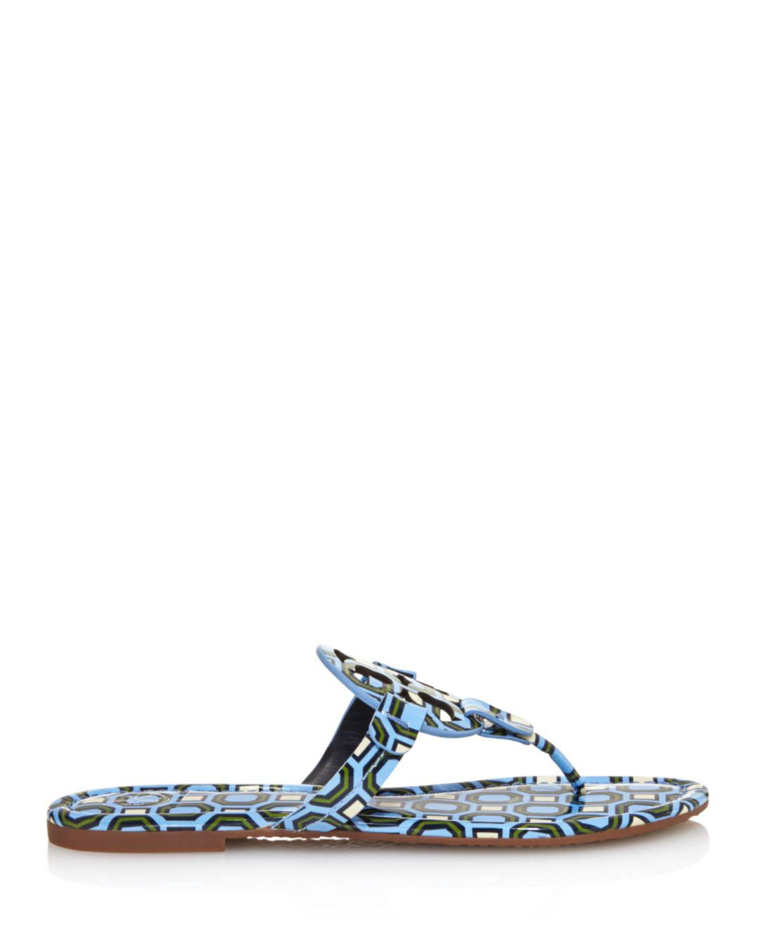 9b29205d022a Lyst - Tory Burch Women s Miller Patent Leather Thong Sandals in Blue
