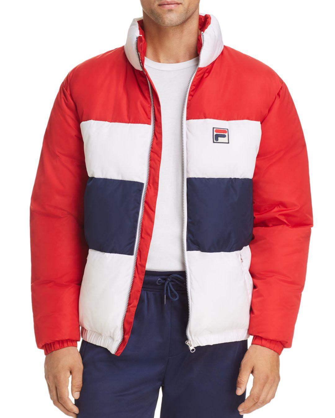 d9a13447b591 Fila Neo Puffer Jacket in Red for Men - Save 60% - Lyst