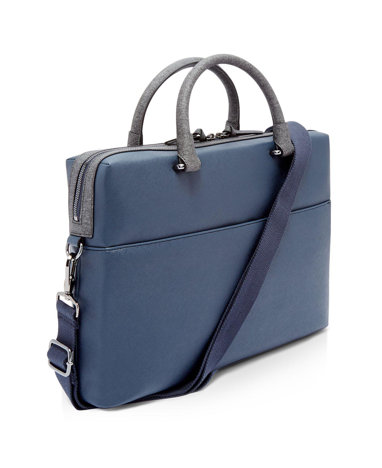 6c9f35a60093 Lyst - Ted Baker Pounce Crossgrain Document Bag in Blue for Men