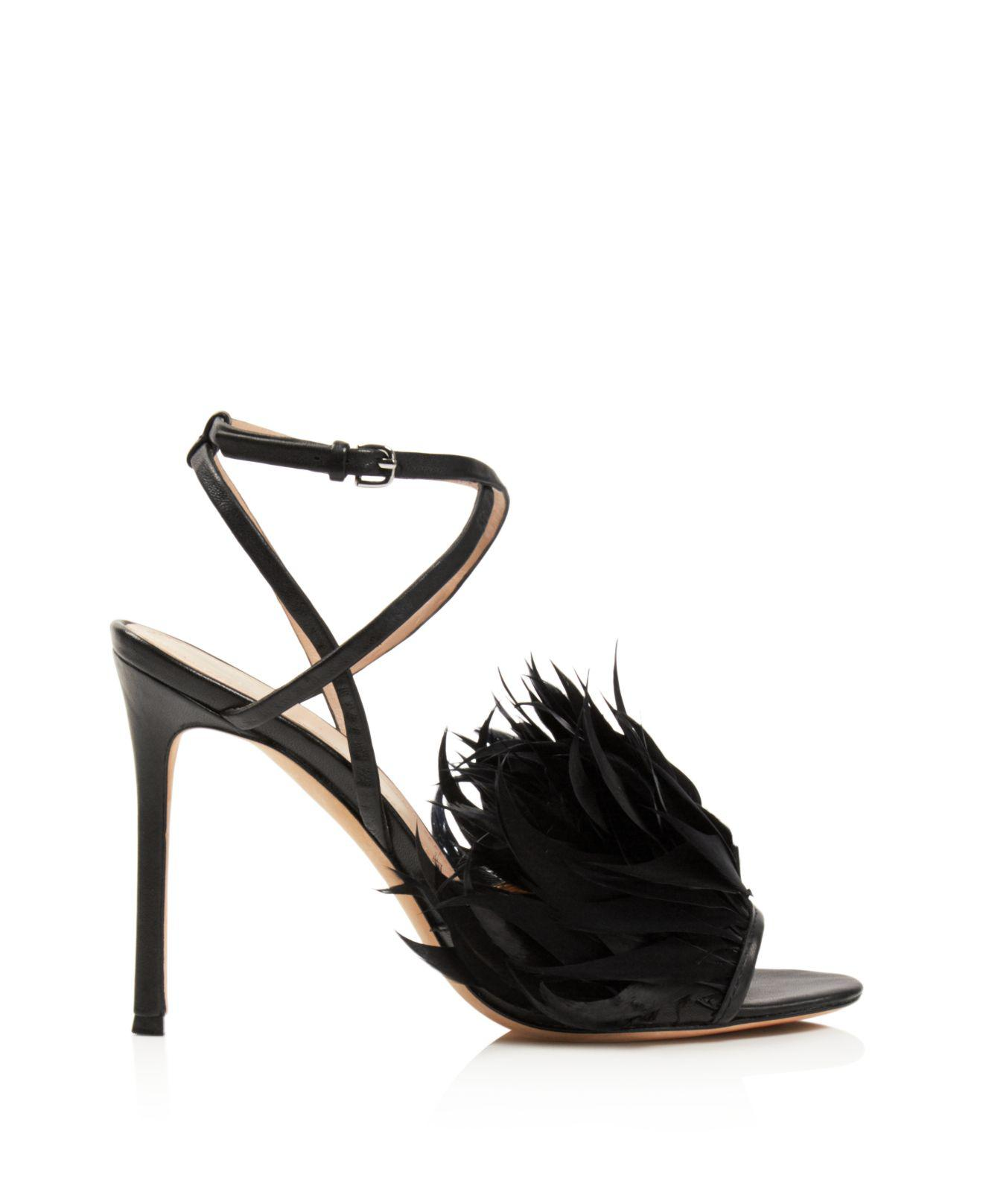 Pour La Victoire Women's Elexi Feather Embellished High-Heel Sandals I3VWaq2eO