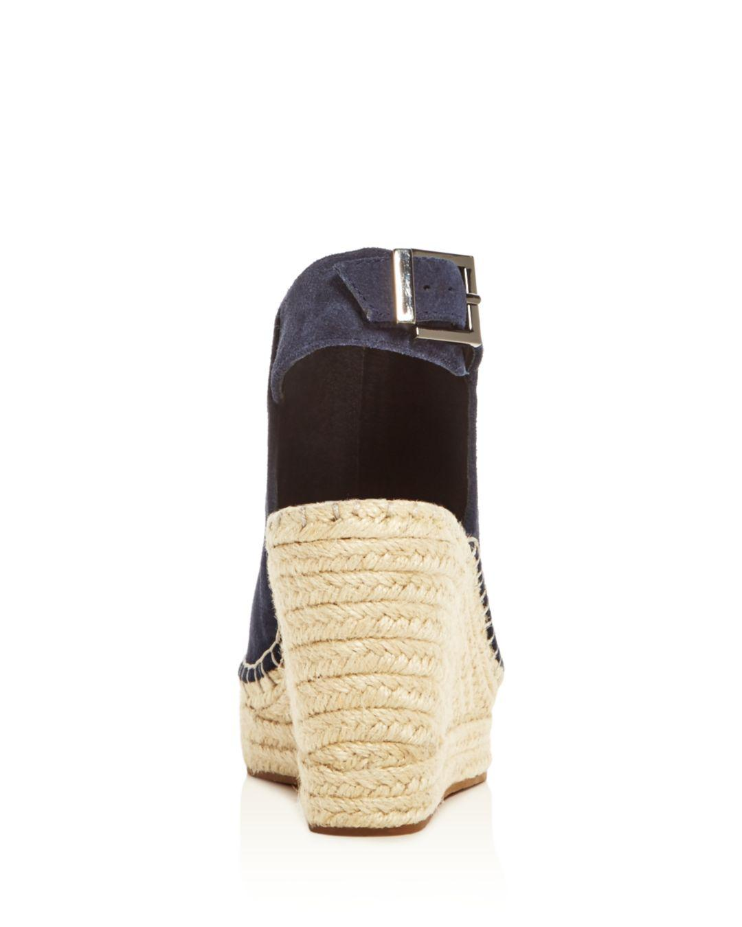 402dd1d2856d Kenneth Cole - Blue Olivia Suede Espadrille Wedge Platform Sandals - Lyst.  View fullscreen