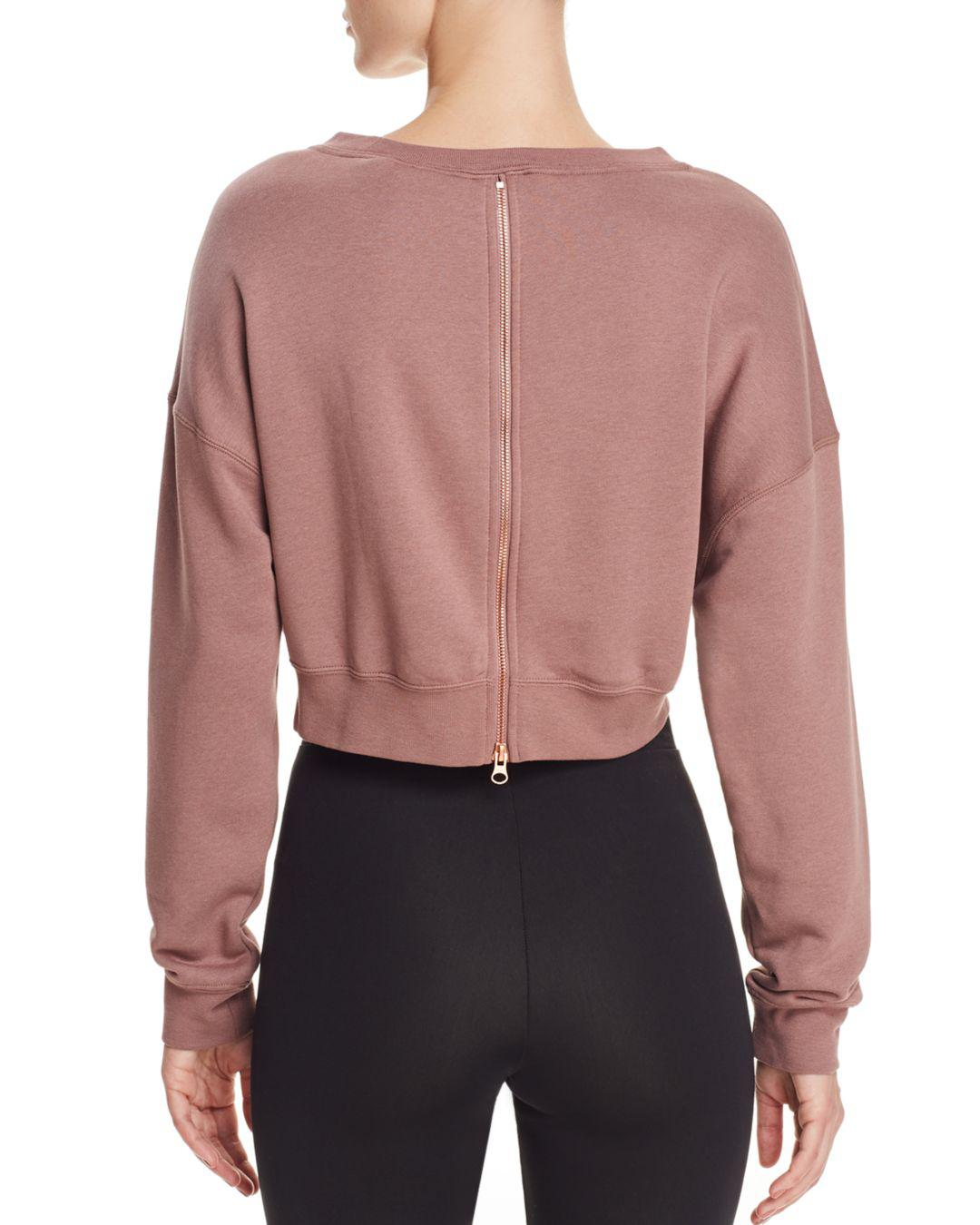 b7ccad73ce017 Lyst - Nike Rally Air Cropped Sweatshirt