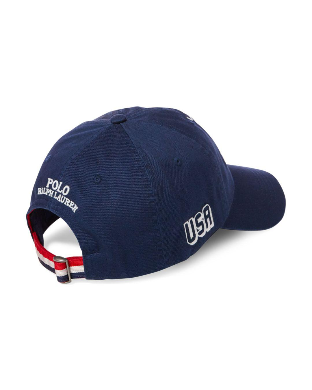 0da4573990b ... Lyst - Polo Ralph Lauren Usa Cotton Chino Cap in Blue for Men popular  stores 8968d ...