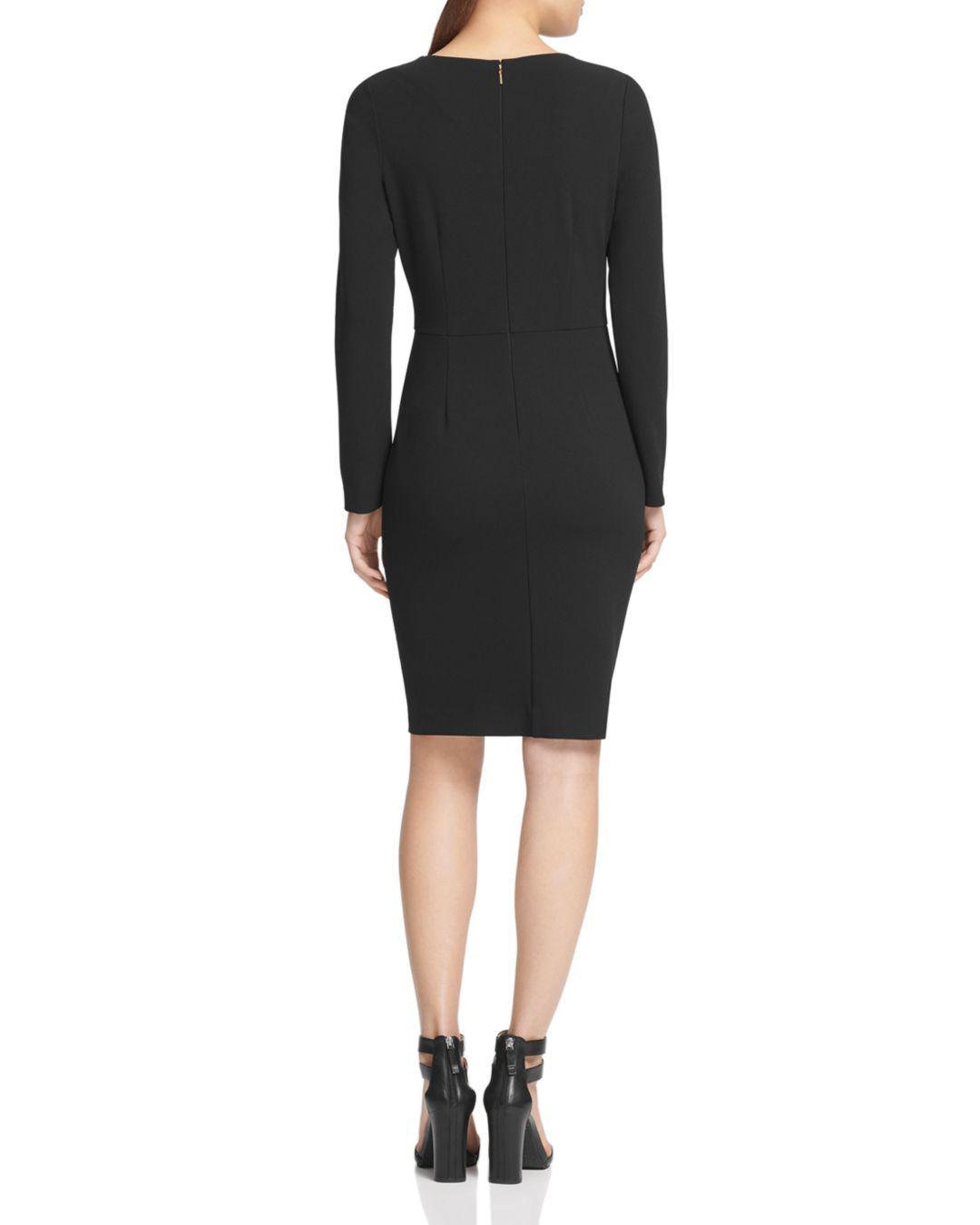 7c418a968cf2e Lyst - Donna Karan Twist-front Scuba-crepe Dress in Black