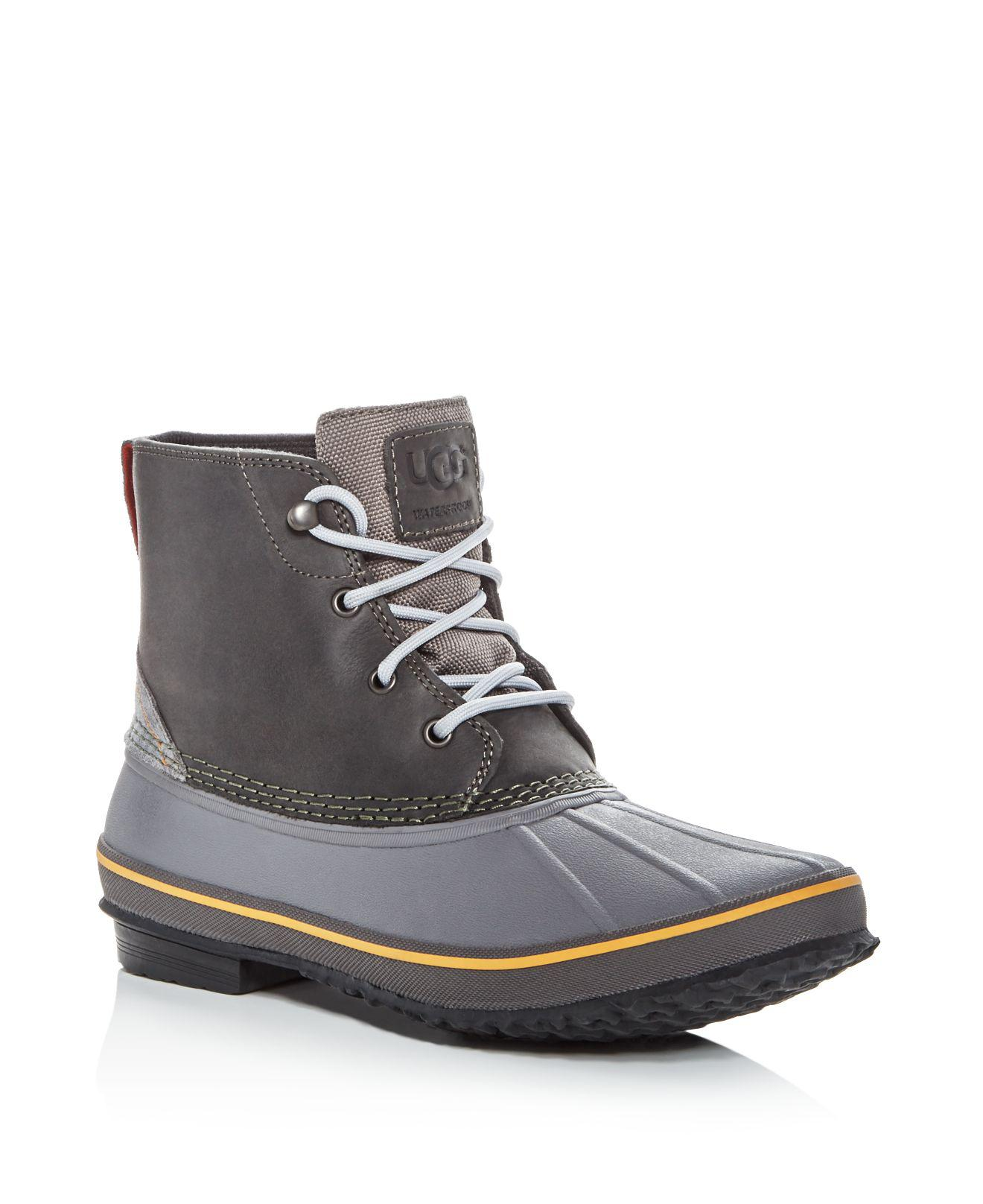 ugg s zetik waterproof leather duck boots for lyst