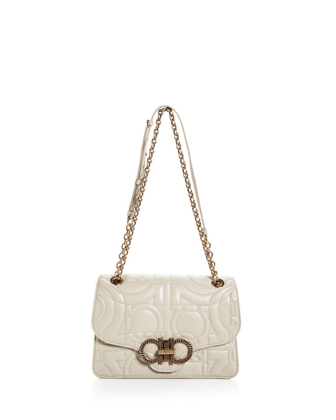 Ferragamo. Women s Large Gancio Quilting Shoulder Bag 2069742d53242