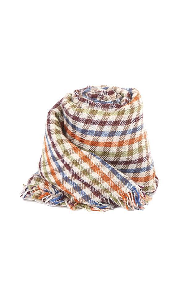 oversized fringed scarf - Yellow & Orange Faliero Sarti VJ6XwMMD8