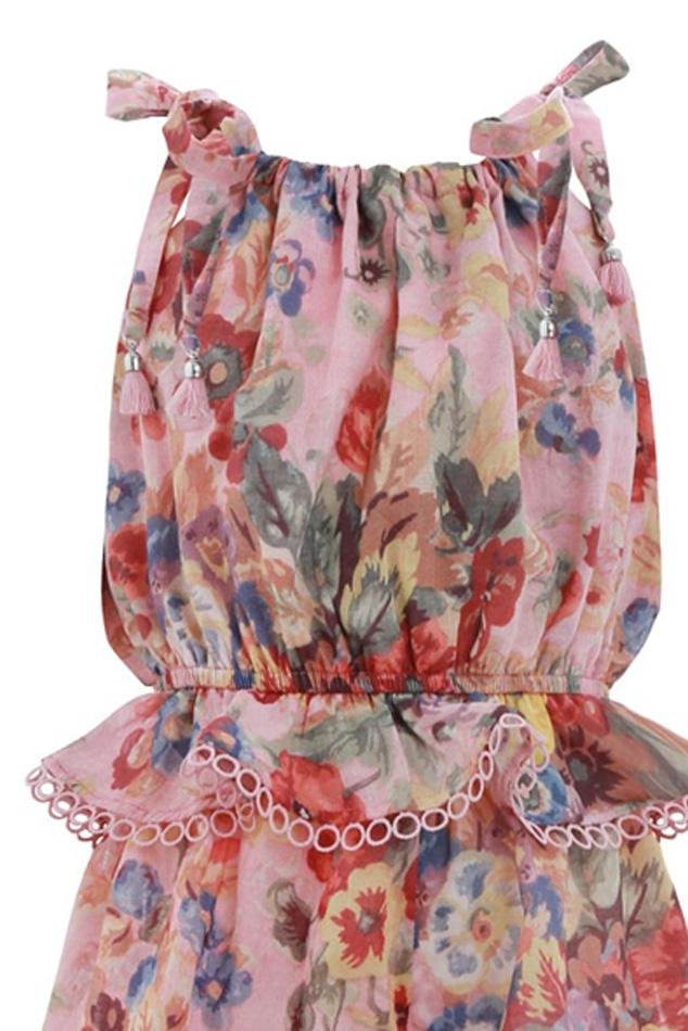 2cb80d2706 Zimmermann - Multicolor Lovelorn Floral Tie Playsuit - Lyst. View fullscreen