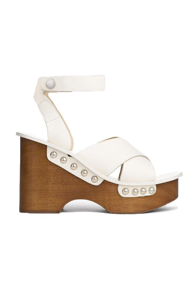 f2457f48a2e Rag   Bone Hester Wedge Sandal in White - Save 60% - Lyst