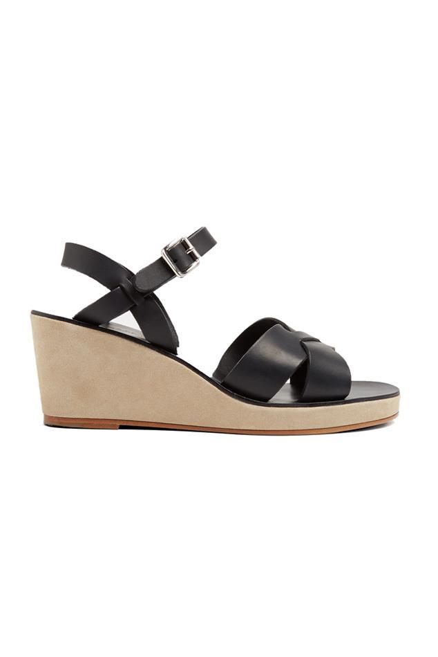 A.P.C. Black Elhena Sandals WiUV4Bnc3