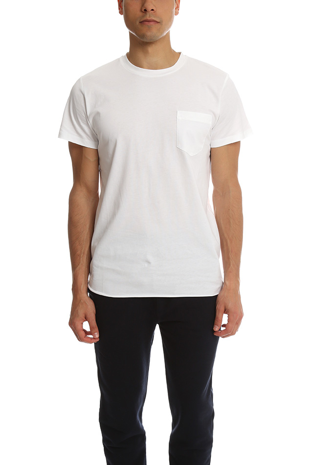 A p c james t shirt in white for men lyst for Apc white t shirt