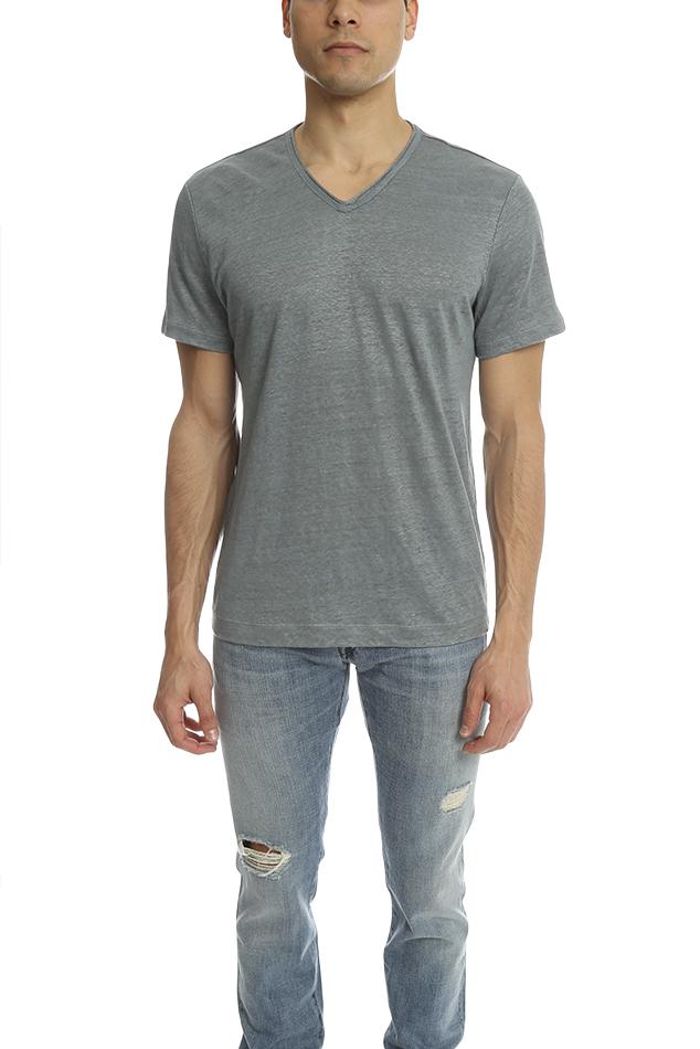 Vince linen shortsleeve v neck tee for men lyst for Vince tee shirts sale