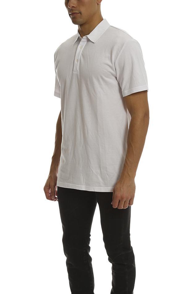 ecbba57b10cf8 Shades of Grey by Micah Cohen - White Polo Shirt for Men - Lyst. View  fullscreen