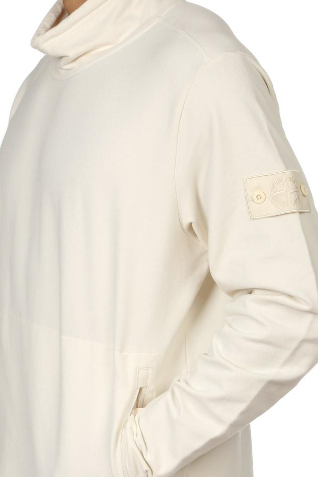 Lyst Stone Island Ghost Mock Neck Sweater In White For Men