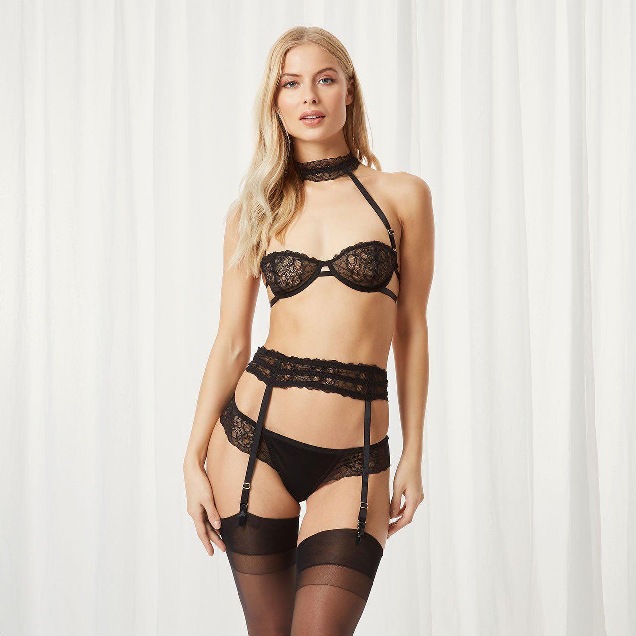 4bf042ce2 Lyst - Bluebella Jasmine Suspender in Black