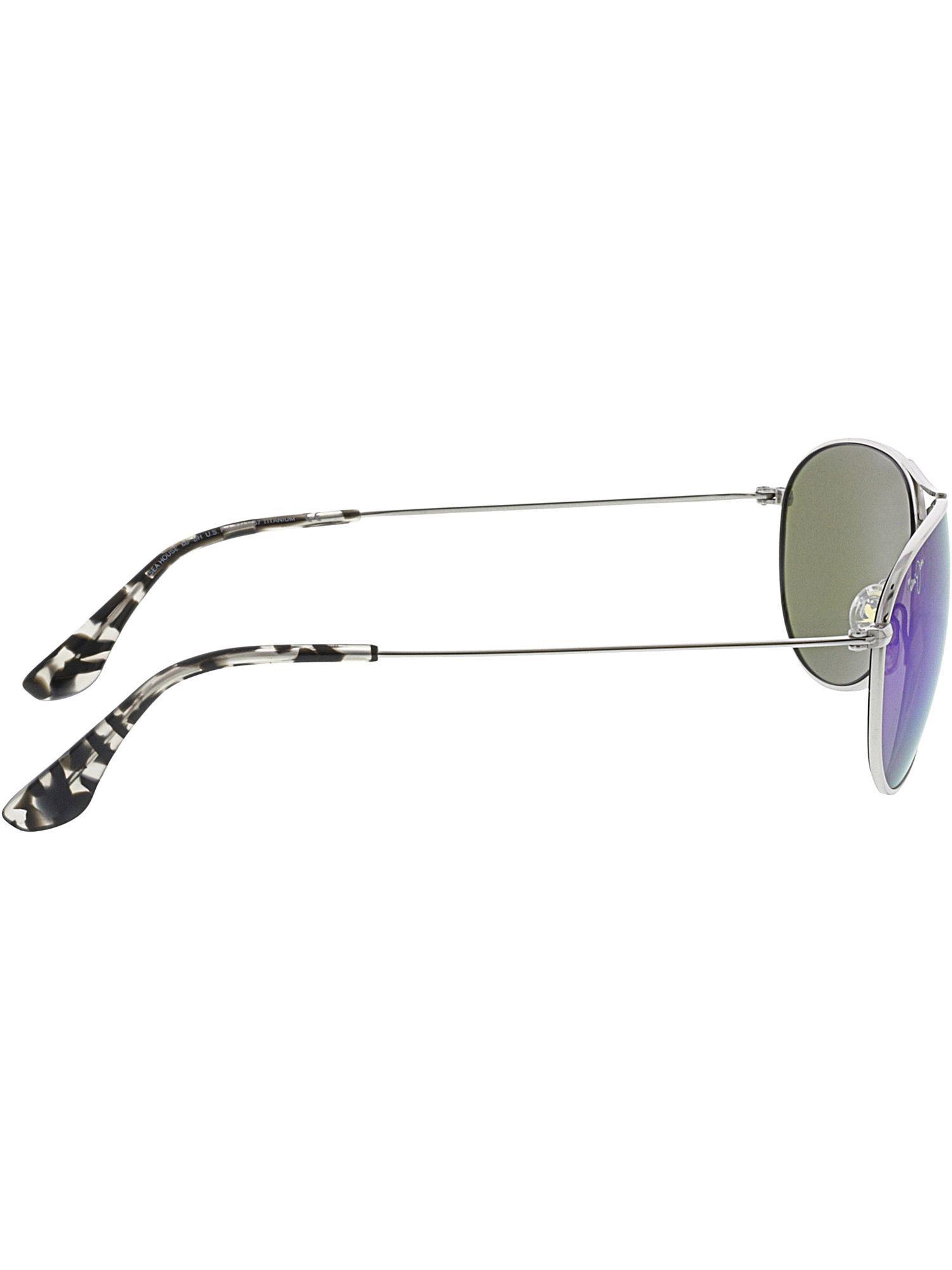 2c730d7882107 Lyst - Maui Jim Women s Polarized Sea House B772-17 Silver Aviator  Sunglasses in Metallic