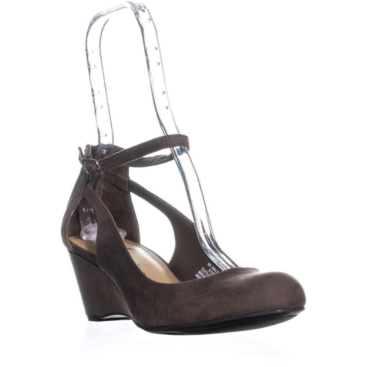 2fd1776d97a477 American Rag. Women s Brown Ar35 Miley Ankle-strap Wedge Pumps