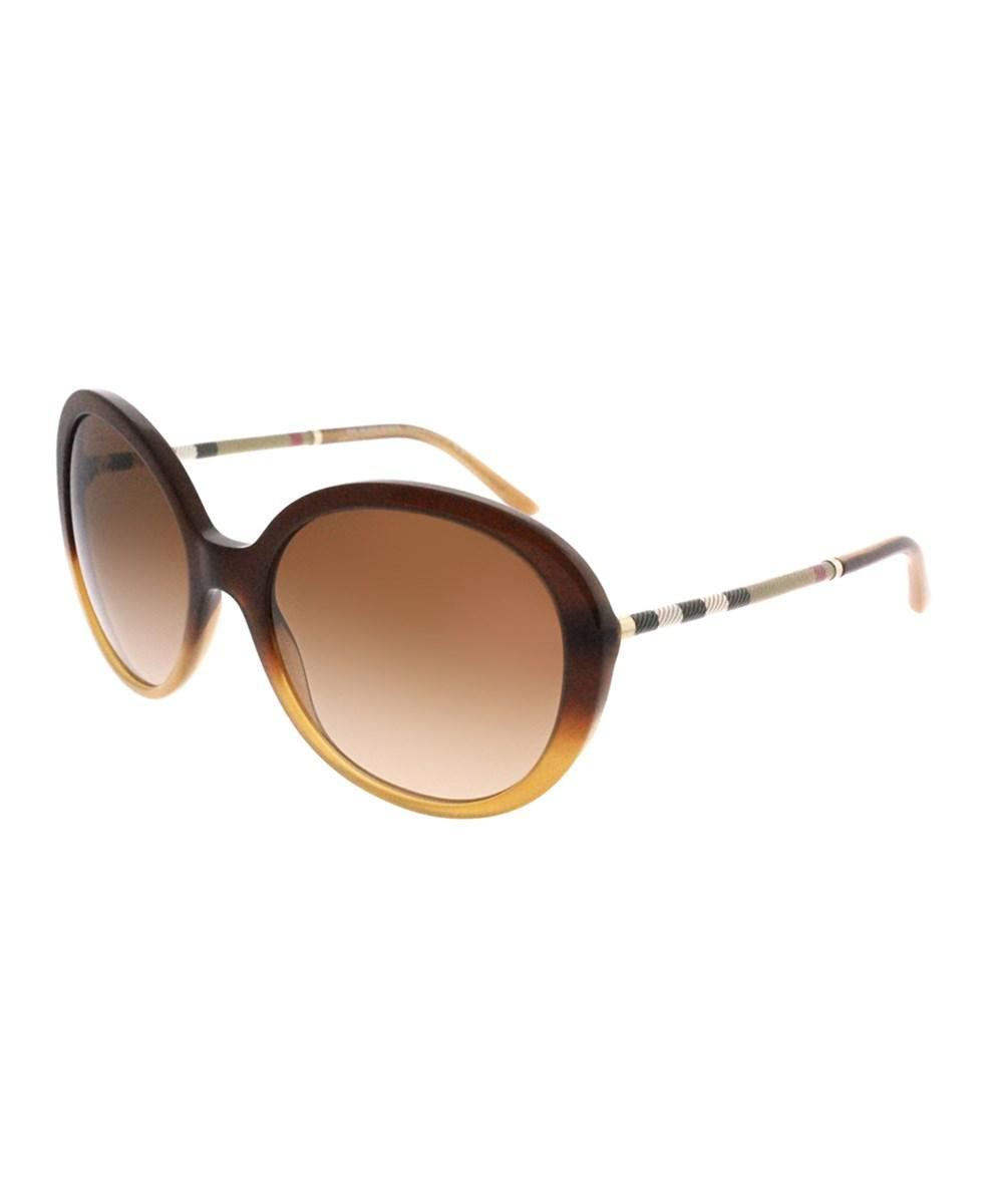 2fc31bbf7c30 Lyst - Burberry 0be4239q 336913 Brown Oval Sunglasses in Brown