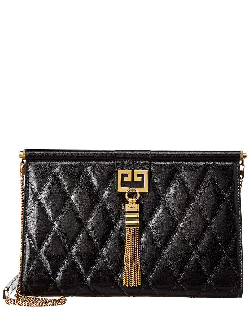 Lyst - Givenchy Medium Gem Quilted Leather Clutch in Black - Save ... c7e6aa20d8fb6