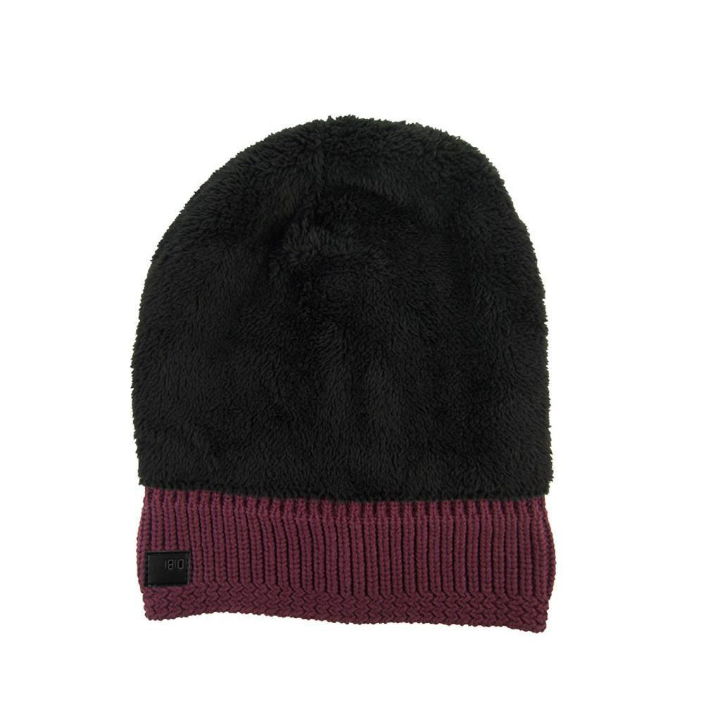 785b62a3d32 Dibi - Purple Navy Cable Knit Fur Lined Beanie for Men - Lyst. View  fullscreen