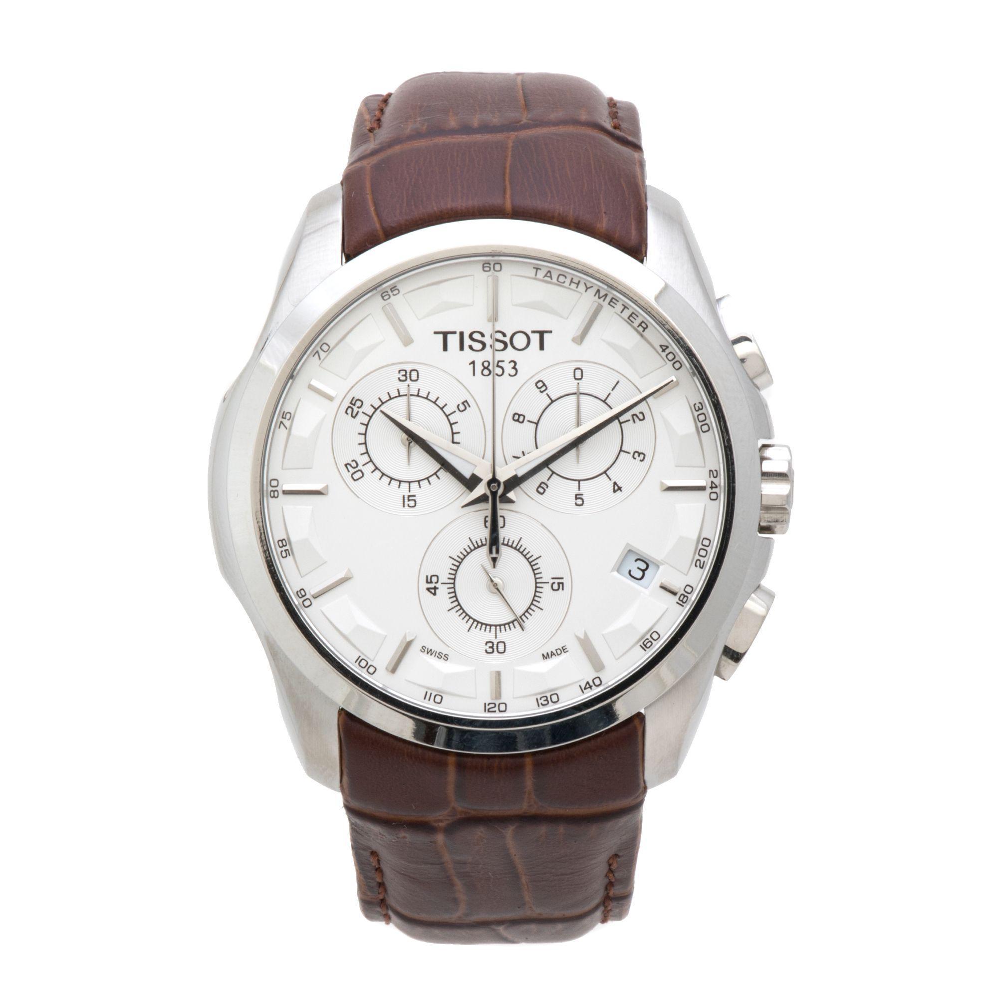 Lyst Tissot Couturier Chronograph Black Dial Mens Watch For Men T0356271605100