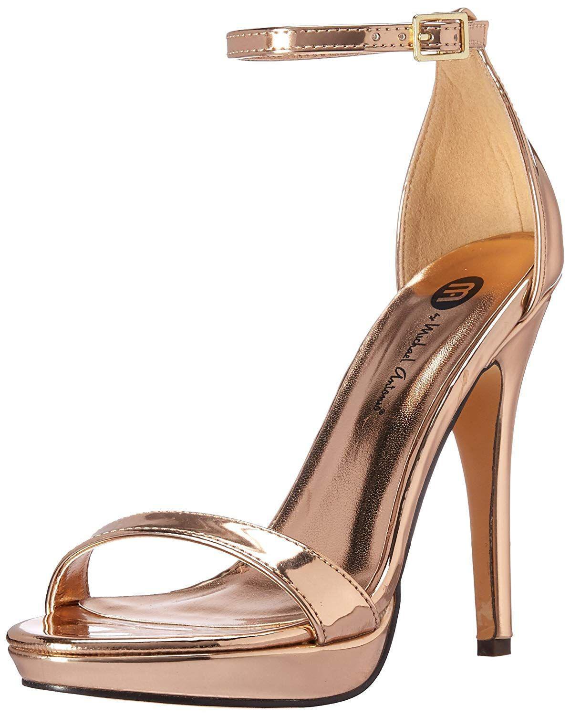 f76a6408e0e87 Lyst - Michael Antonio Women s Lovina-met Heeled Sandal in Metallic