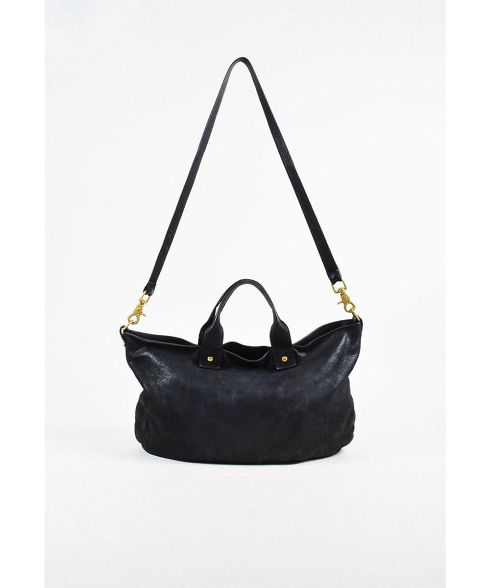 494d7f44d5 Lyst - Clare V. 1 Black Grained Leather Gold Tone Satchel Bag in Black