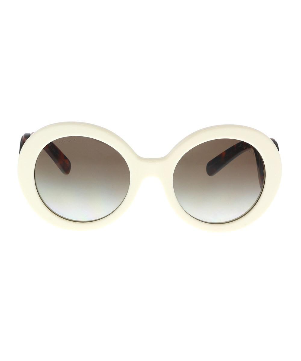c4f49623123c ... norway lyst prada pr 08tsf vag0a7 ivory round sunglasses in white 9f954  fce2f ...