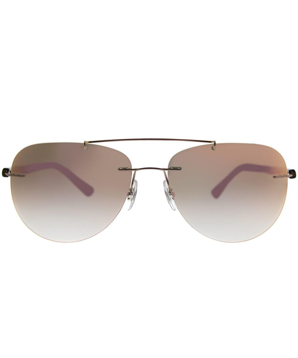 ff31de75af3 Lyst - Ray-Ban 0rb8059 155 b9 57mm Bronze Aviator Sunglasses in Metallic