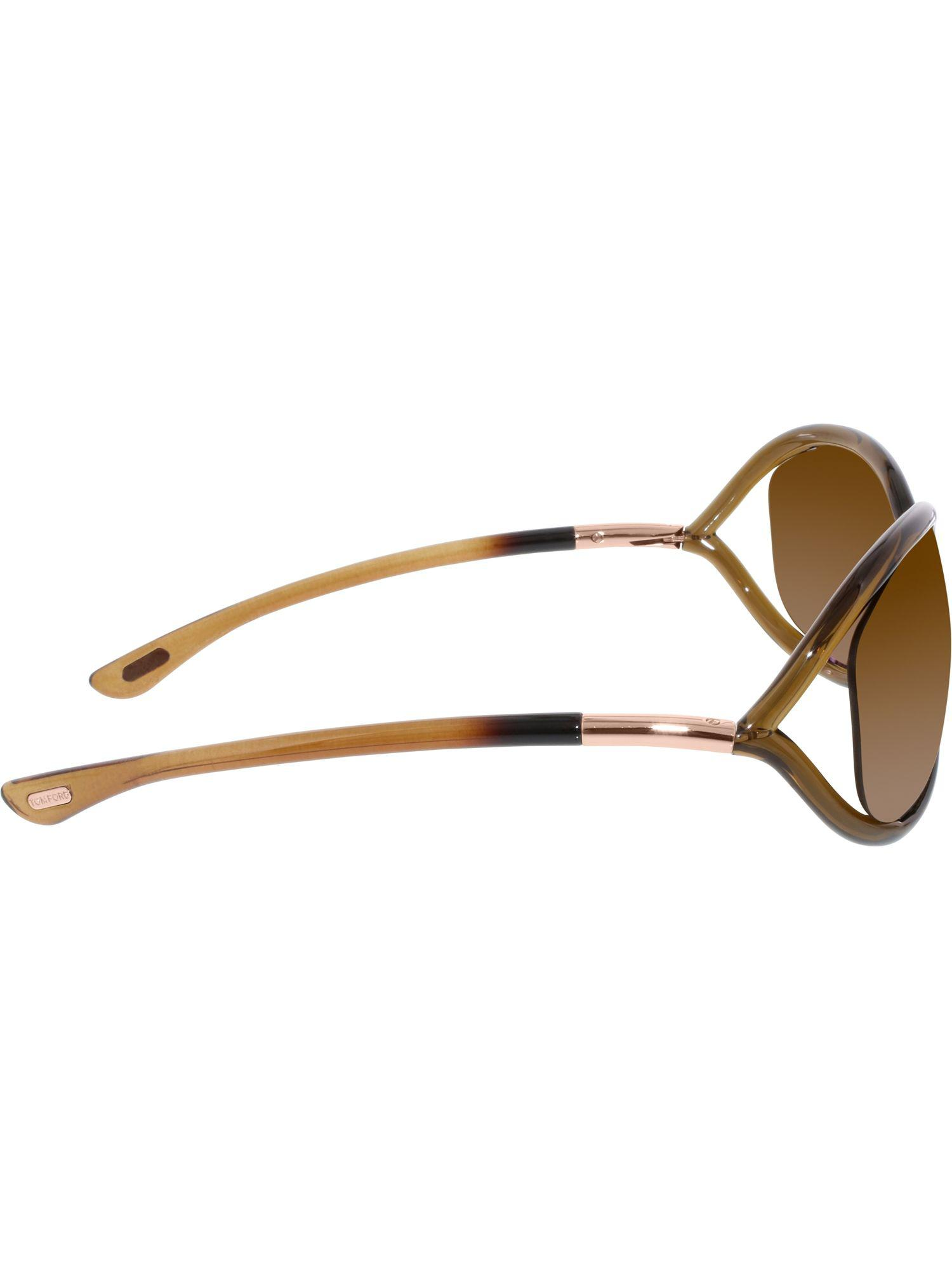 a98a0ccd379 Lyst - Tom Ford Women s Polarized Jennifer Ft0008-48h-61 Brown Oval ...