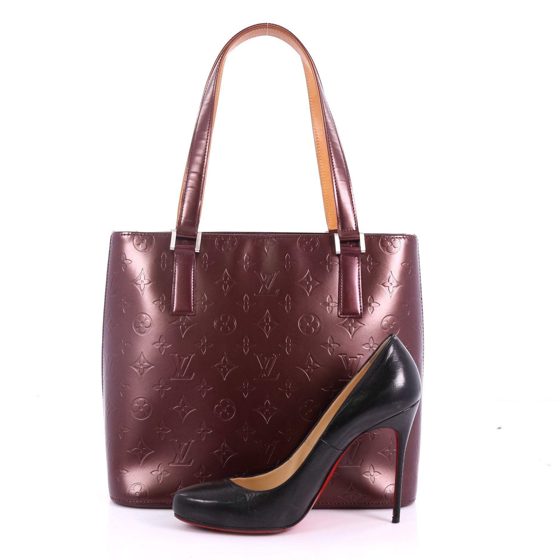 5f6a2f8718f8 Louis Vuitton - Multicolor Pre Owned Mat Stockton Handbag Monogram Vernis -  Lyst. View fullscreen