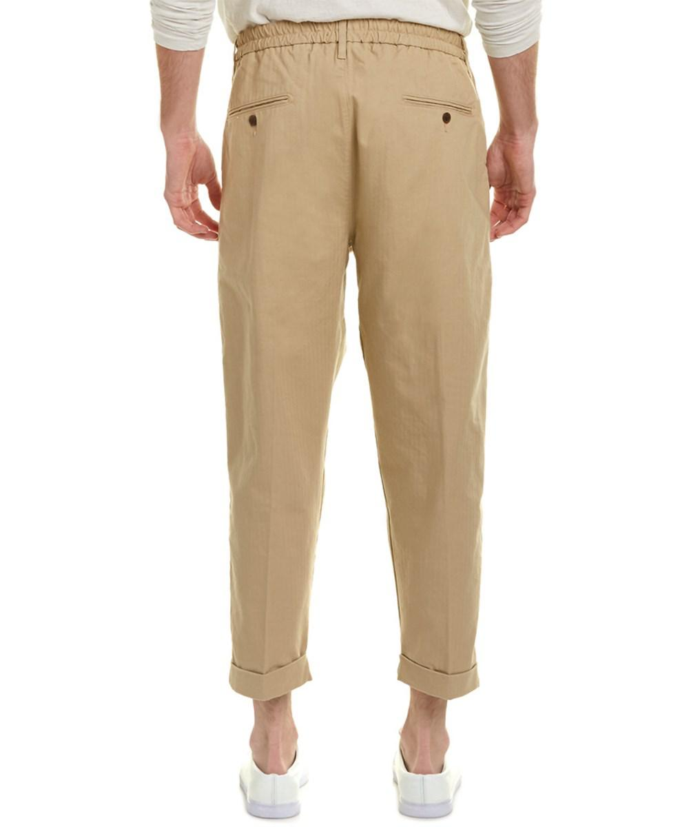 Lyst levi 39 s made crafted travertine pleated trouser for Levis made and crafted spoke chino