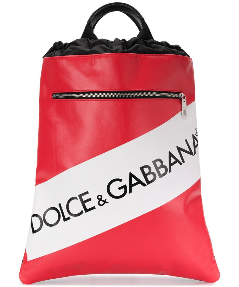 1ebf3f38223e Lyst - Dolce   Gabbana Dolce E Gabbana Men s Red Cotton Backpack in ...
