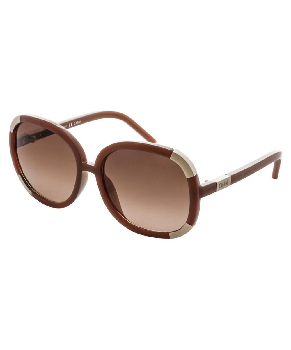 2b51300e21b9 Lyst - Chloé Women s 2119 Sunglasses in Brown