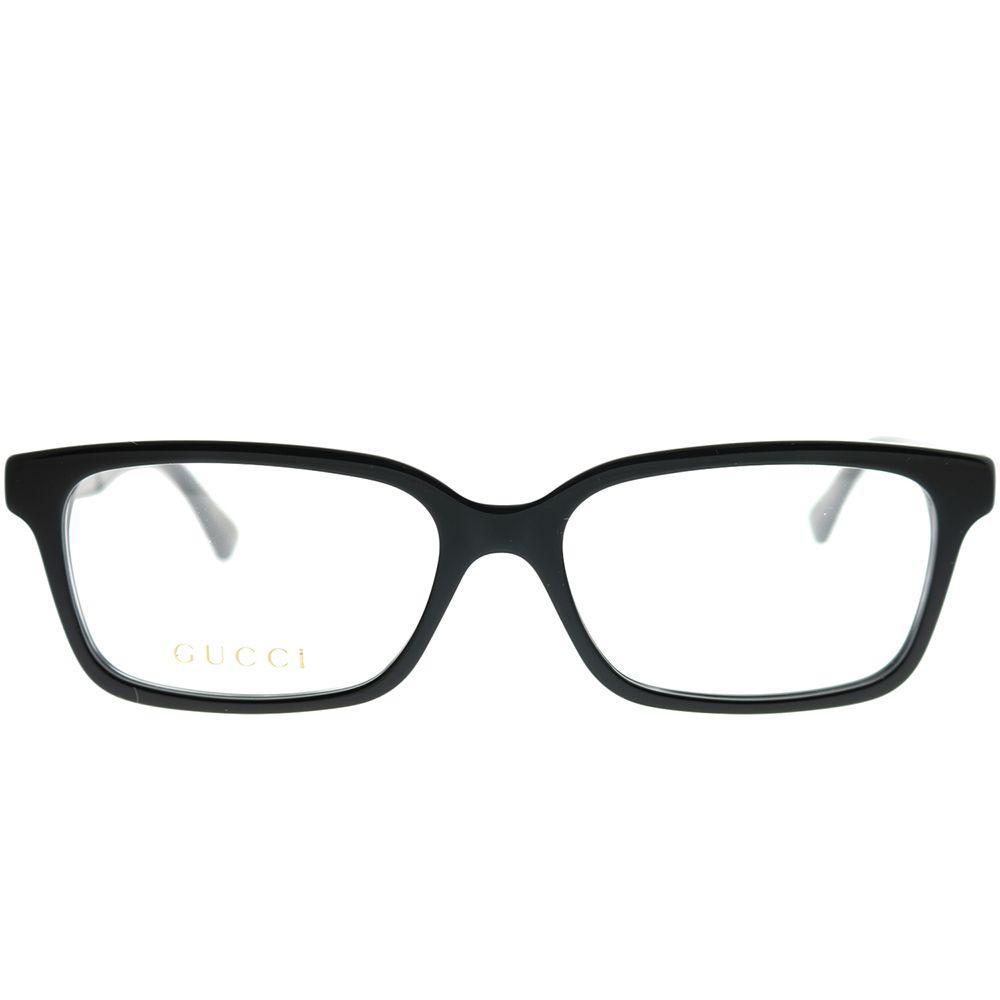 8e63f3afd8f Gucci - GG 0168o 001 Black Rectangle Eyeglasses - Lyst. View fullscreen