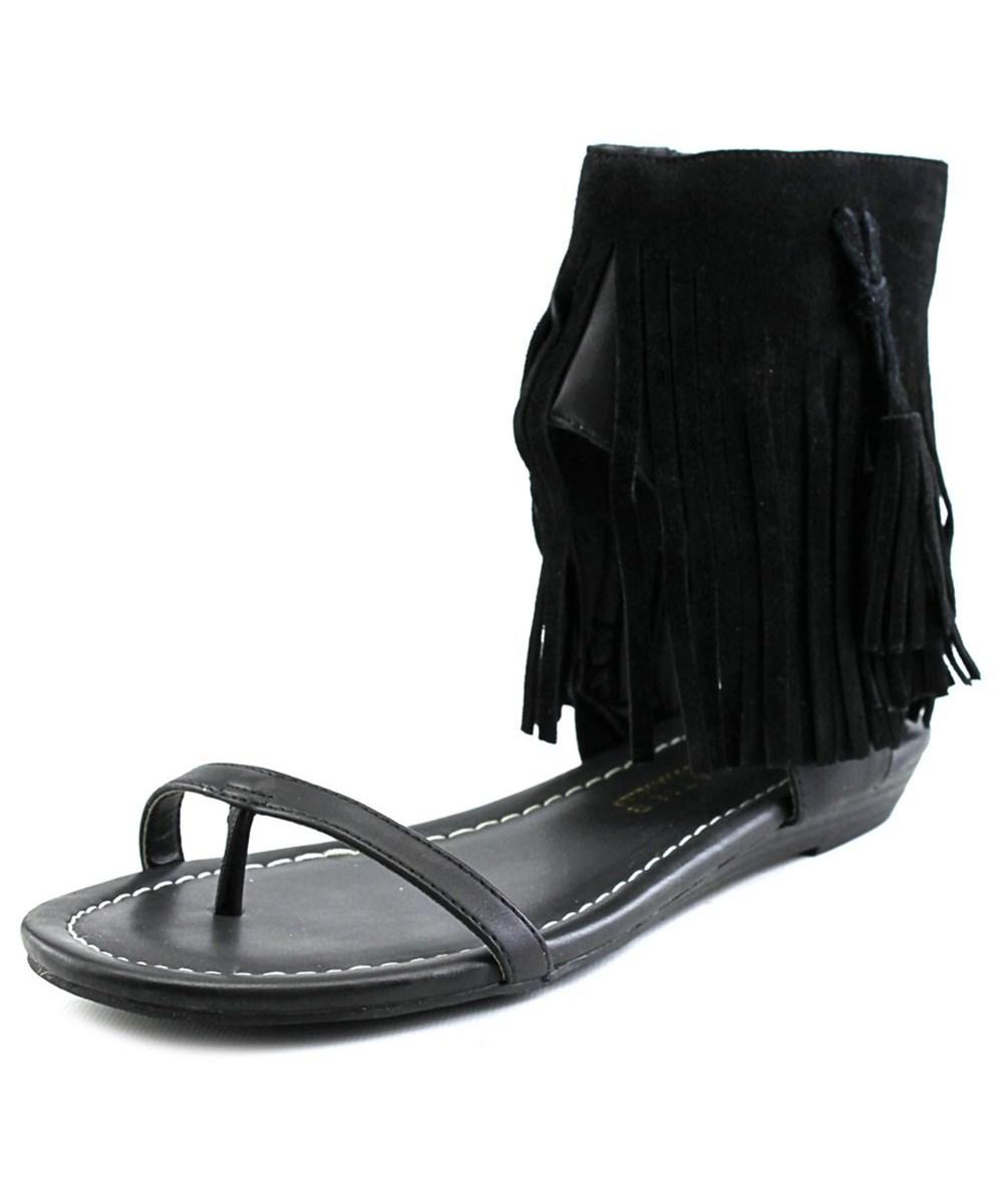 207a9bebaff039 Lyst - Very Volatile Lex Women Open Toe Synthetic Black Sandals in Black