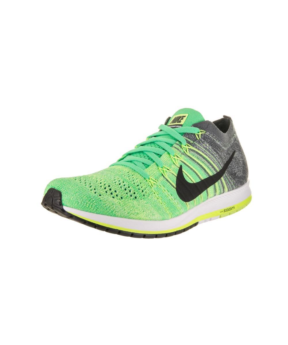 save off 3bc4b 7402d Nike. Green Unisex Flyknit Streak Running Shoe