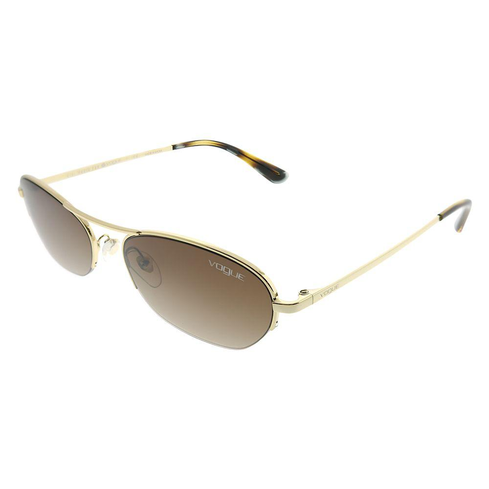 056ec23be Vogue Eyewear. Women's Metallic Gigi Hadid For Vogue Vo 4107s 848/13 Pale  Gold Oval Sunglasses