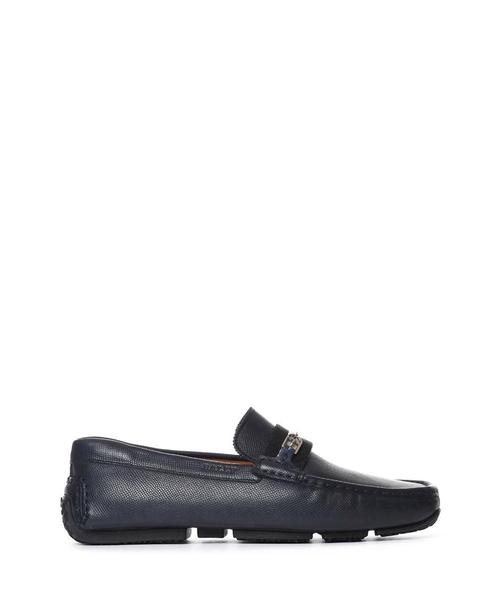0a44f0b242c Lyst - Bally Men s Blue Leather Loafers in Blue for Men