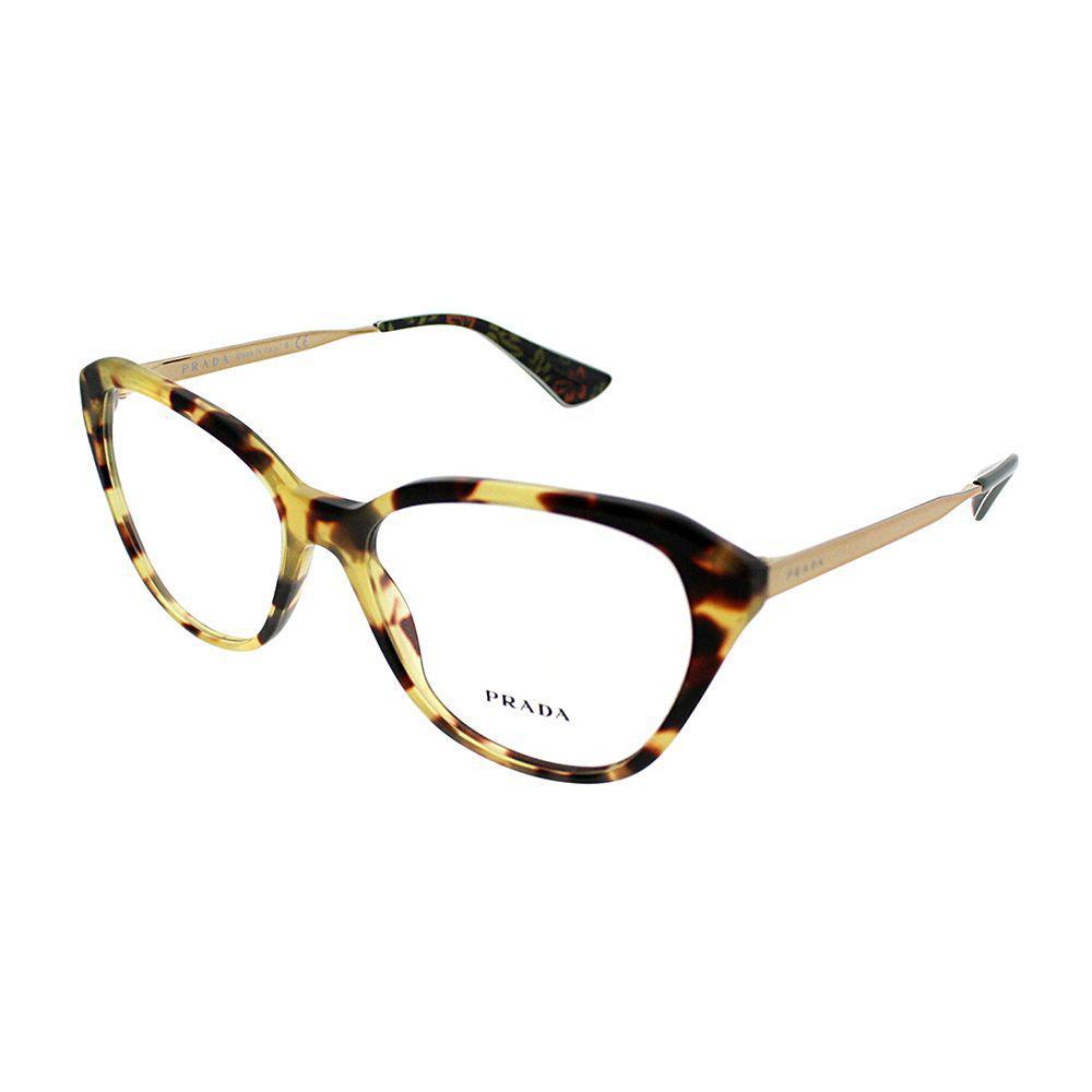 4a794451c3f6d Prada - Brown Cinema Pr 28sv 7s01o1 54mm Medium Havana Cat-eye Eyeglasses -  Lyst. View fullscreen