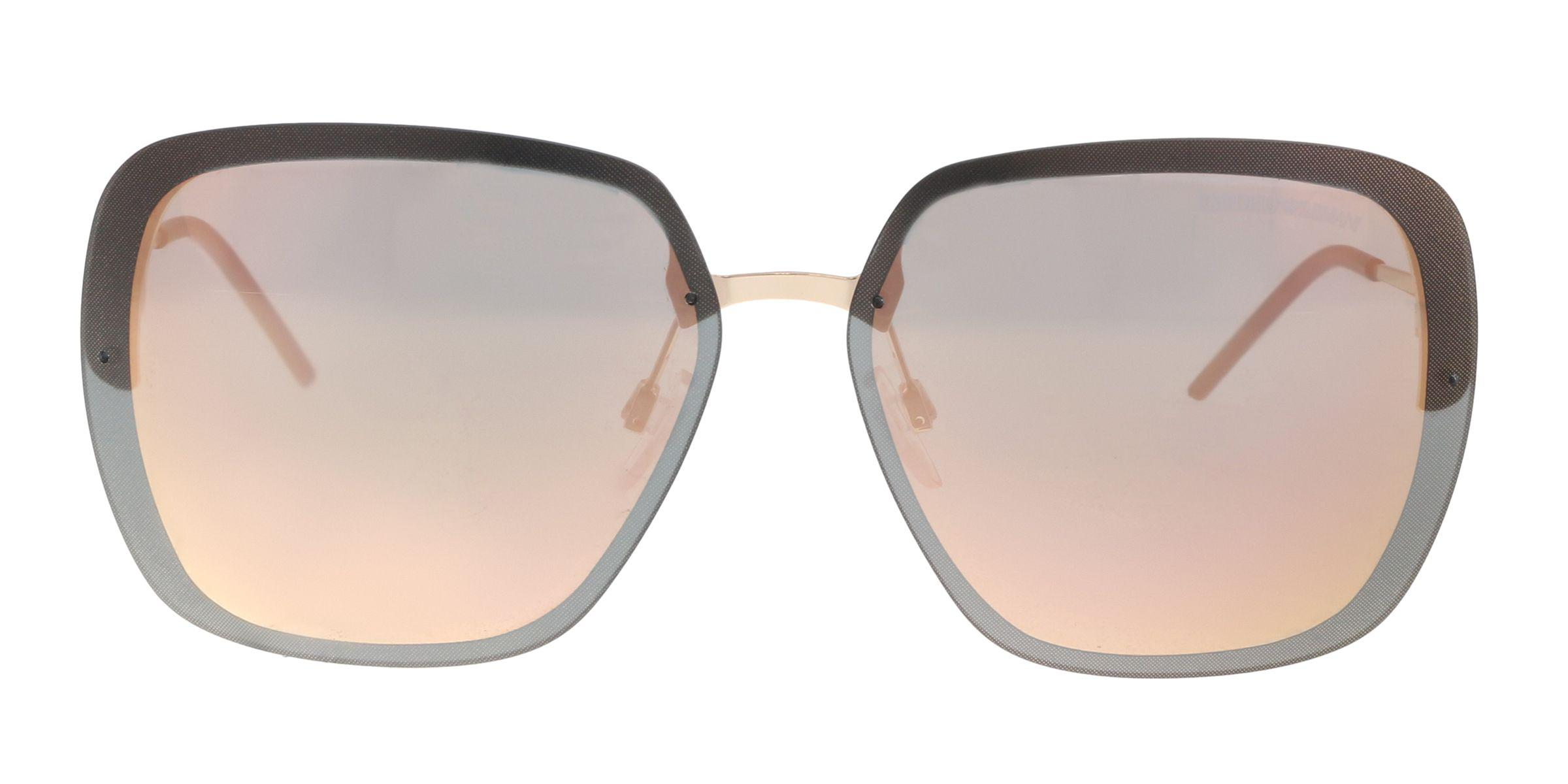 91a5cd5b322 Lyst - Emporio Armani Ea2045 31674z Pink Gold Square Sunglasses
