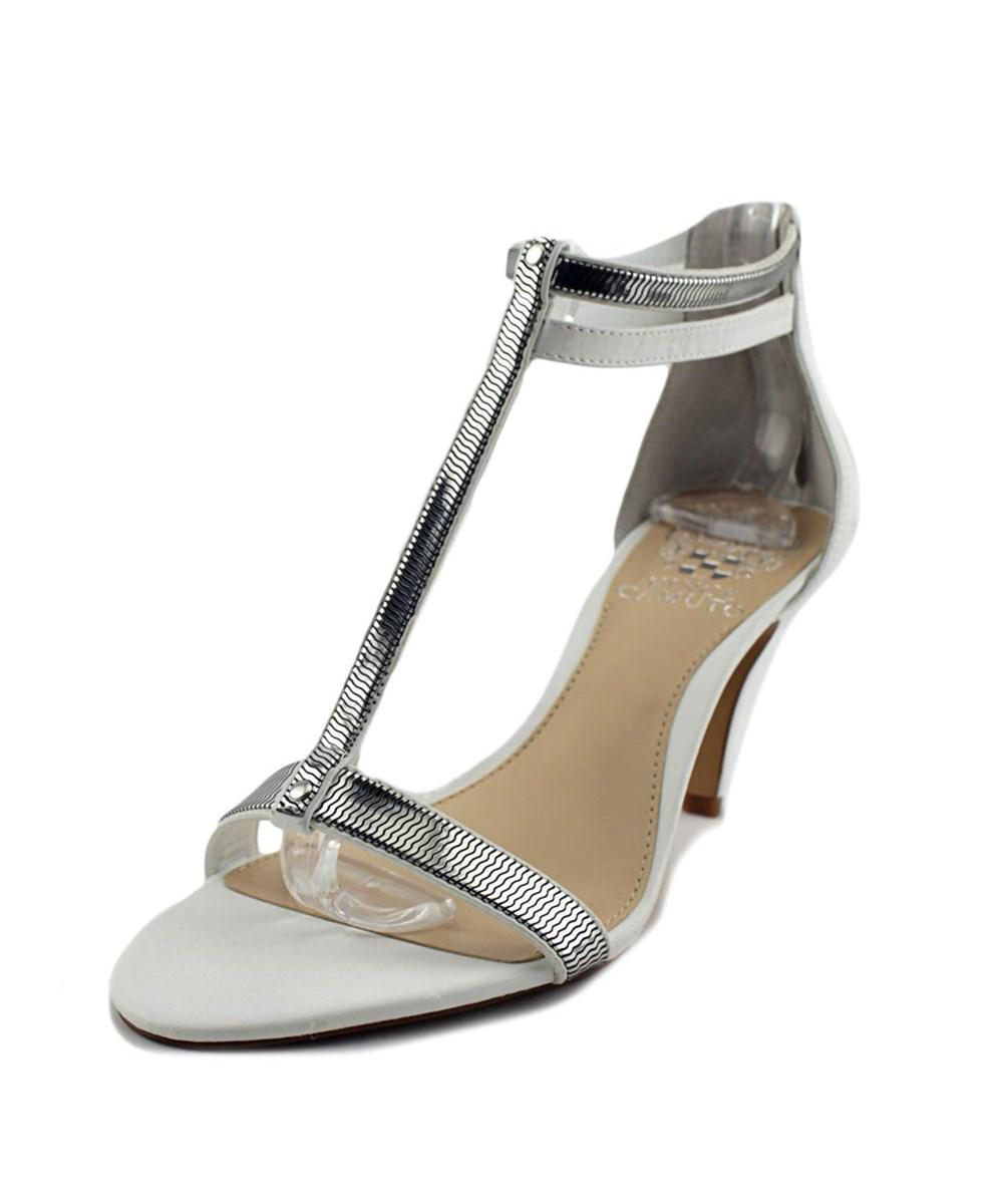 6549756fa080 Lyst - Vince Camuto Makoto Women Open Toe Leather Sandals in Metallic