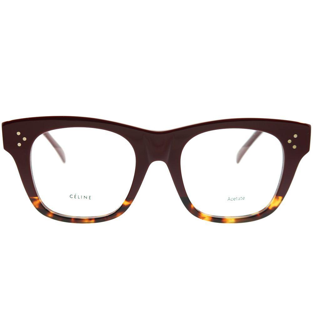 2440dafcd6 Céline - Brown Cathrine Small Asian Fit Cl 41367 f Aev Burgundy Havana  Square Eyeglasses. View fullscreen