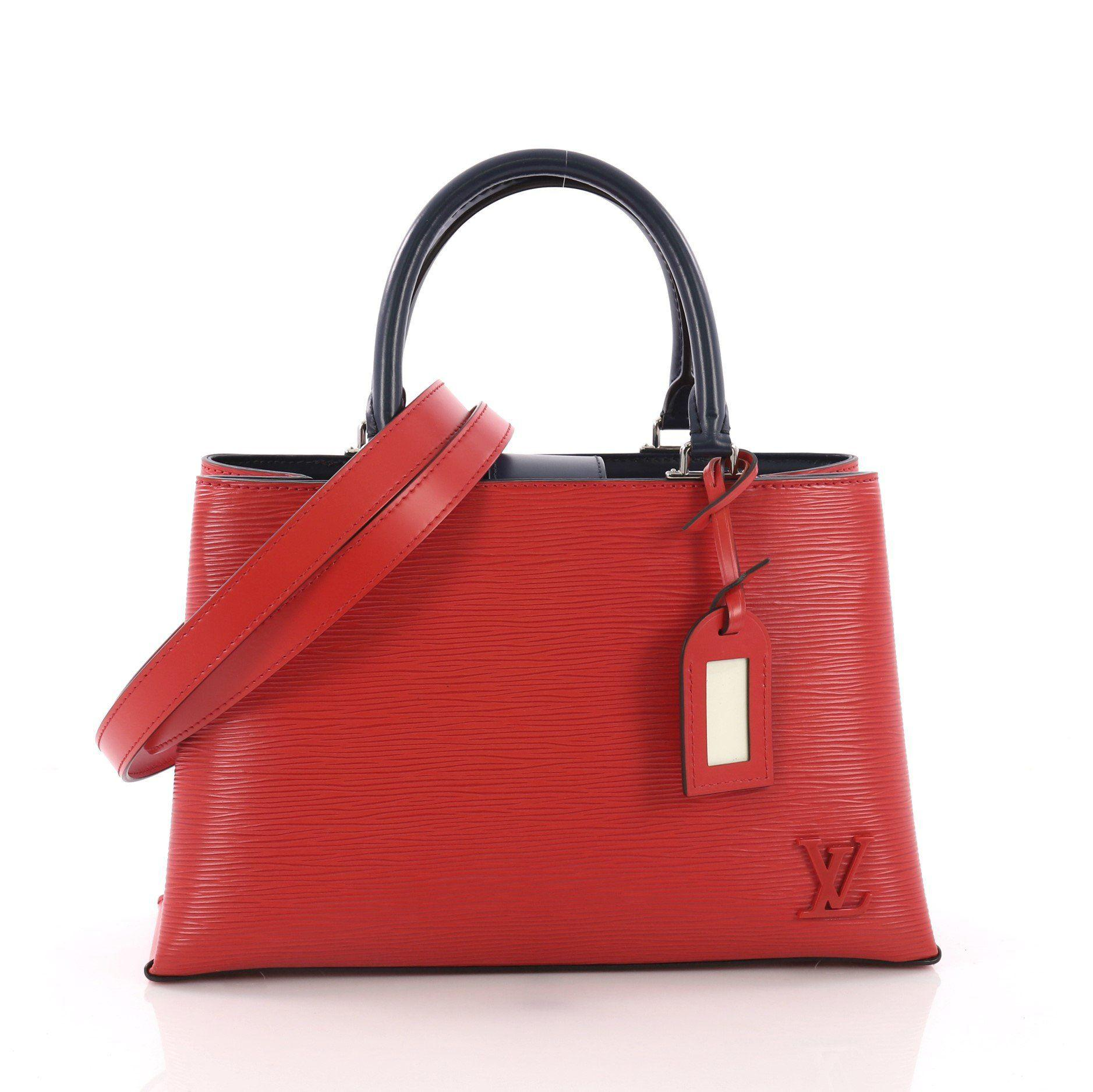 057d5c9c9f30 Lyst - Louis Vuitton Pre Owned Kleber Handbag Epi Leather Pm in Red