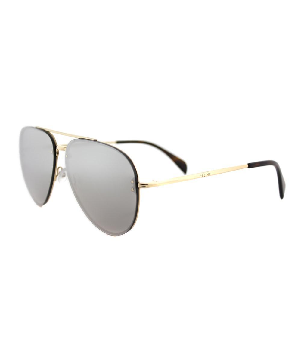 ed06b770f52fd Lyst - Céline Mirror Pilot Metal Sunglasses in Metallic
