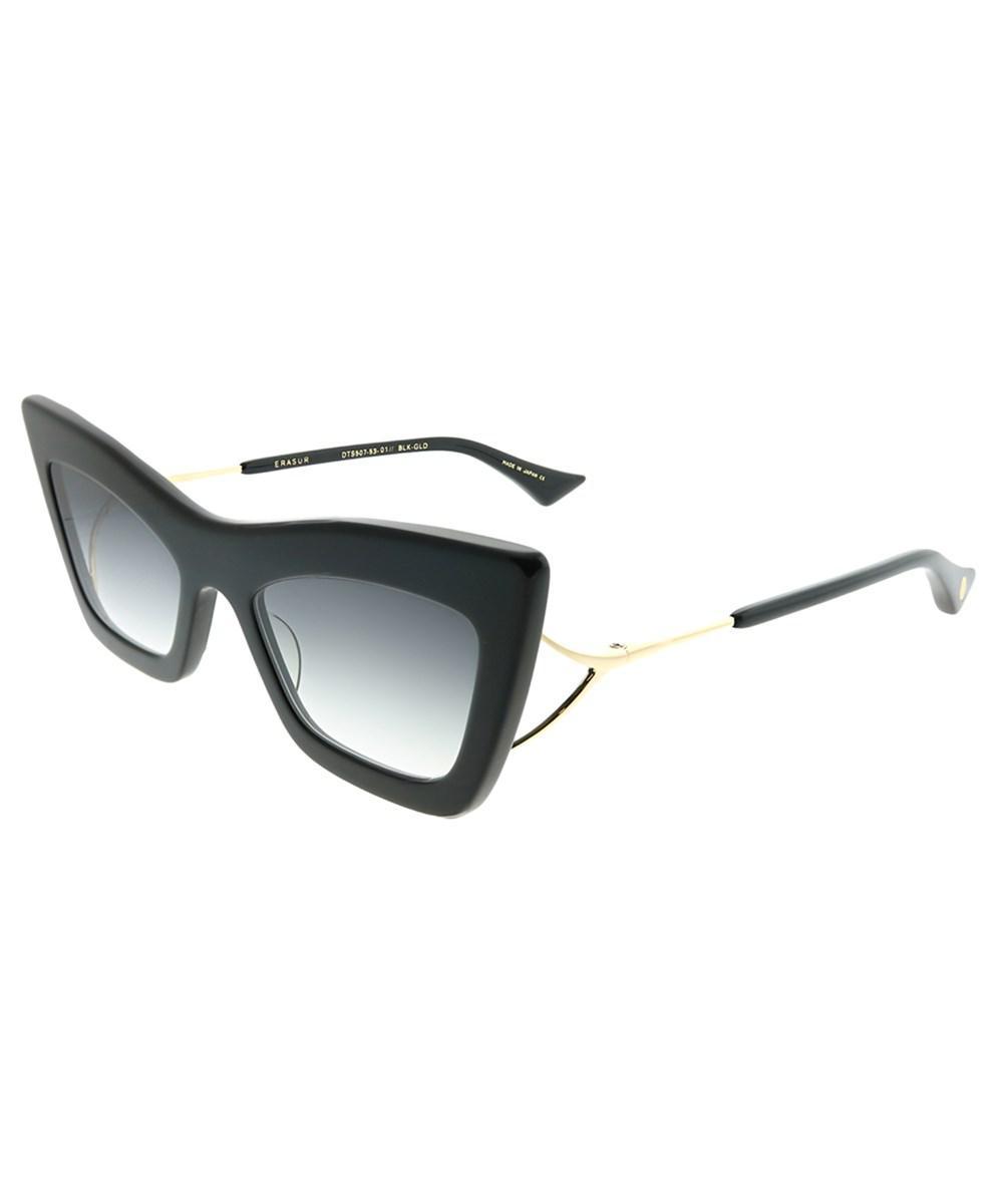 0d5b087bd9e Lyst - Dita Erasur Black - Gold Cat-eye Sunglasses in Black