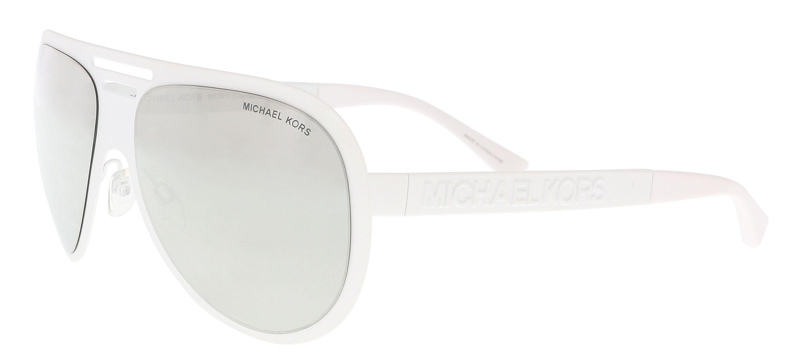 4b8359fb5f Michael Kors - Mk5011 11236g White Aviator Sunglasses - Lyst. View  fullscreen