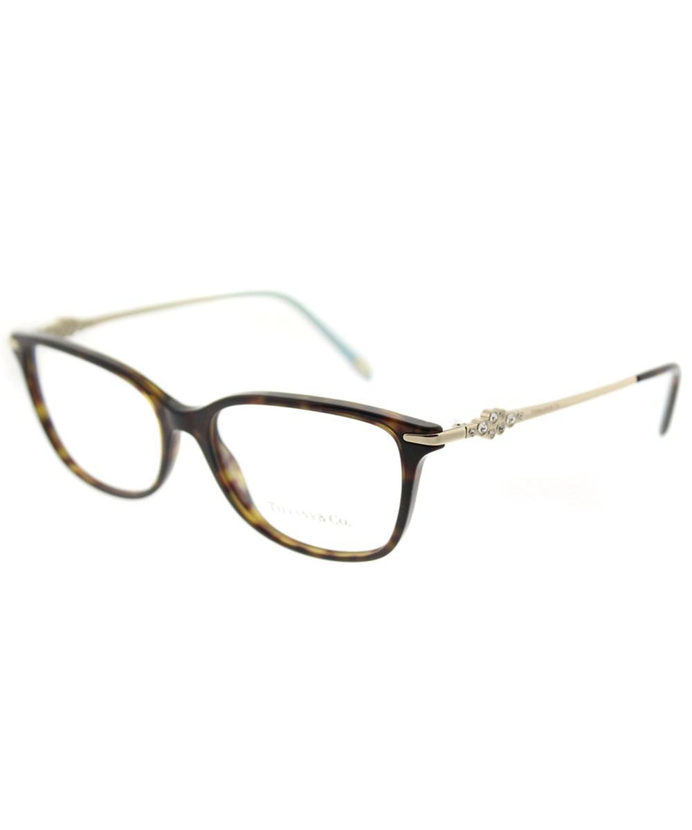 9c8890fc82d4 Tiffany   Co Tf 2133b 8015 55mm Dark Havana Square Eyeglasses - Lyst