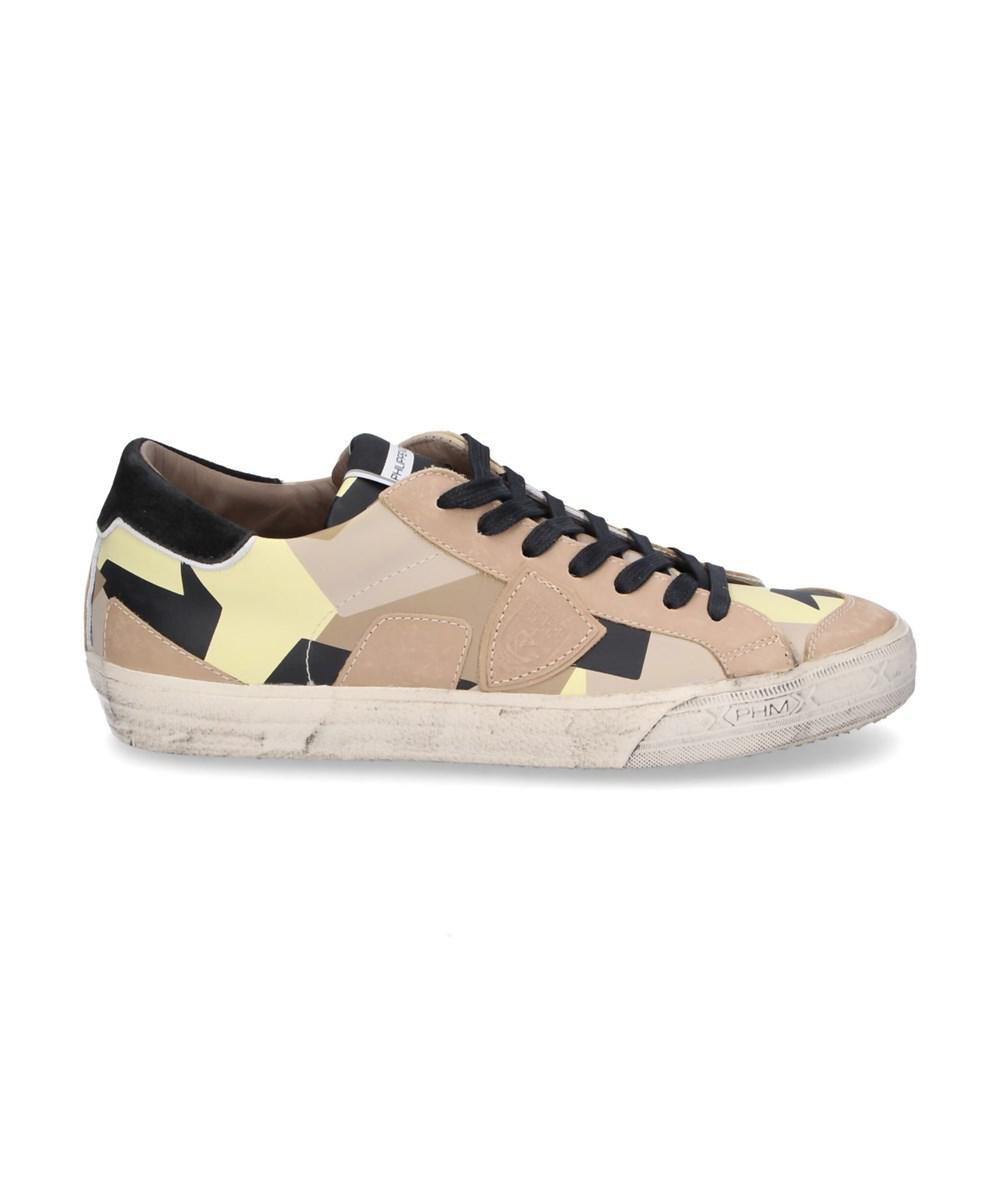 Philippe modelMen's Lakers Vintage Gum Sole Sneaker AG6mvcZ