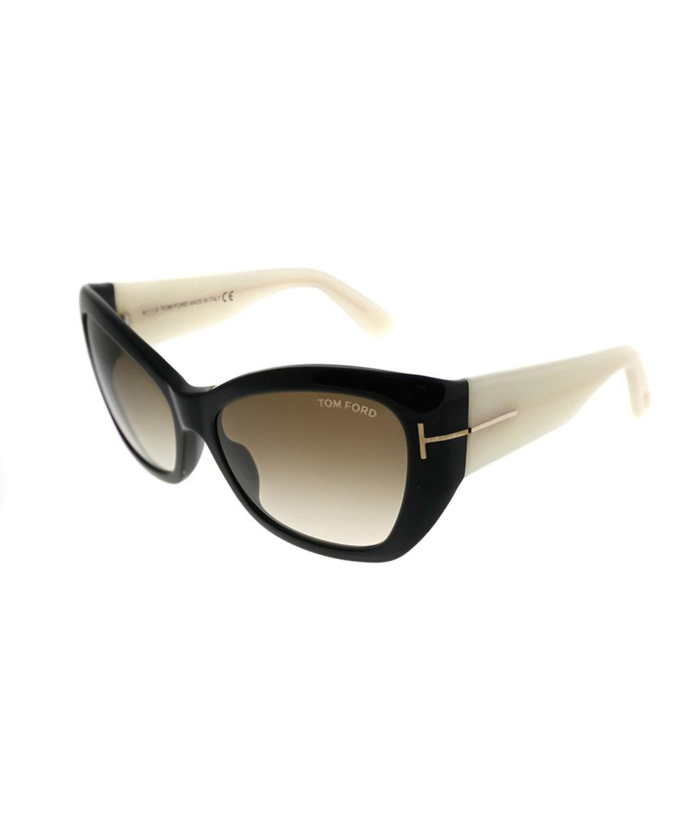 4349b4e051b9 Lyst - Tom Ford Corinne Tf 460 01f Shiny Black Cream Cat-eye ...